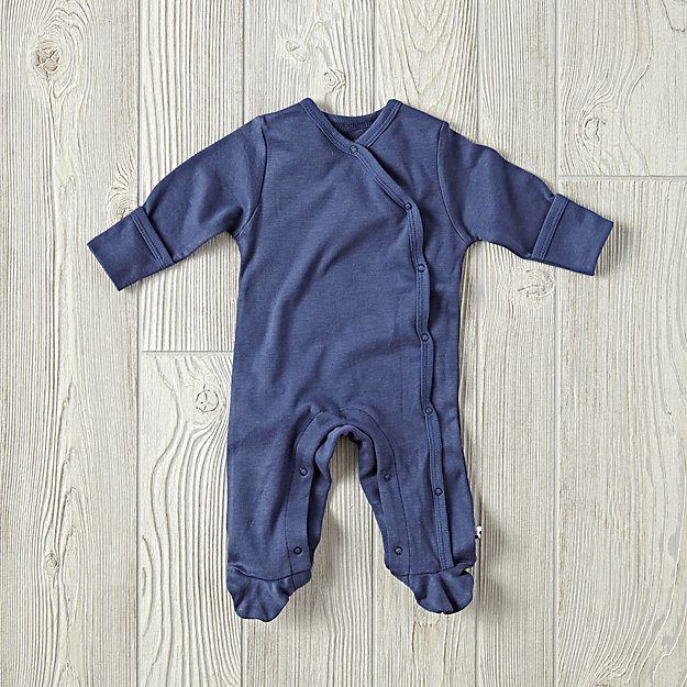6-12 Months Babysoy Footie Pajamas (Navy)