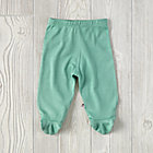Green 0-3 Months Babysoy Footie Pants