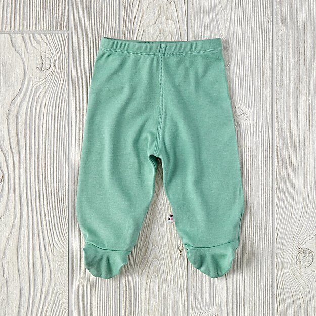 6-12 Months Babysoy Footie Pants (Green)