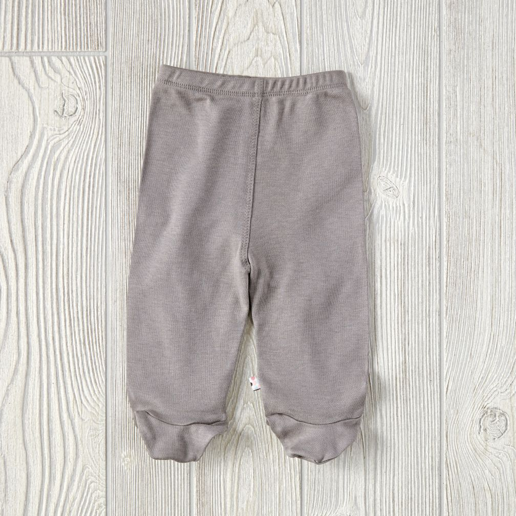 3-6 Months Babysoy Footie Pants (Grey)