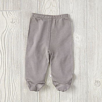 0-3 Months Babysoy Footie Pants (Grey)