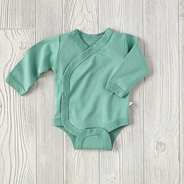 0-3 Months Babysoy One-Piece (Green)