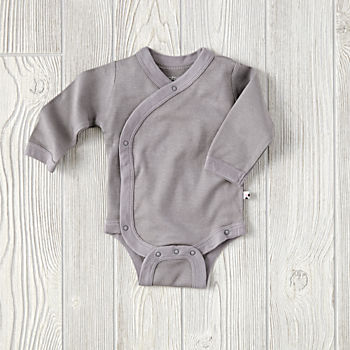0-3 Months Babysoy One-Piece (Grey)