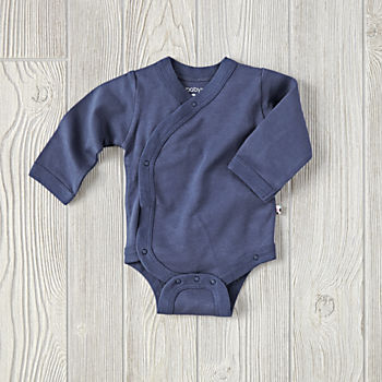 0-3 Months Babysoy One-Piece (Navy)