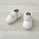 Minnetonka Riley White Baby Bootie Size 1 (0-3 Months)