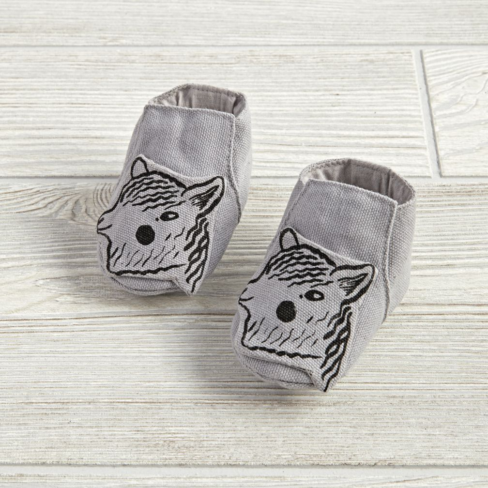0-6 Months Farmland Booties (Grey Pony)