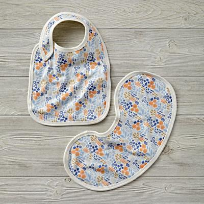 Organic Garden Patch Lavender Bib Set
