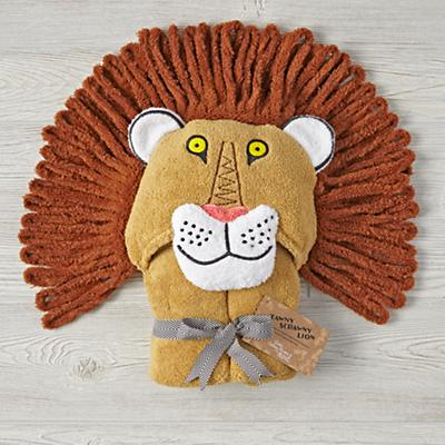 Tawny Scrawny Lion Hooded Bath Towel