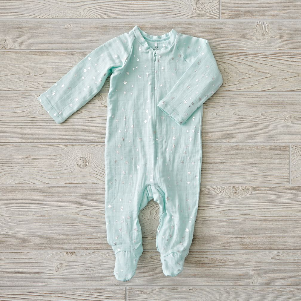 aden + anais Metallic Mint One-Piece (3-6 Months)