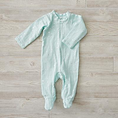 aden + anais Metallic Mint One-Piece (0-3 Months)