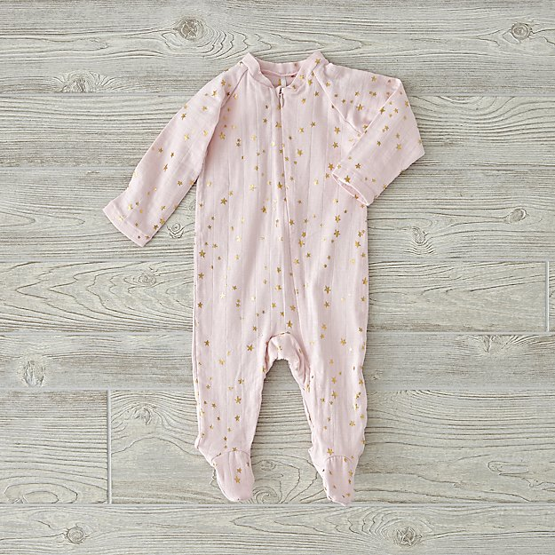 aden + anais Metallic Pink One-Piece (0-3 Months)