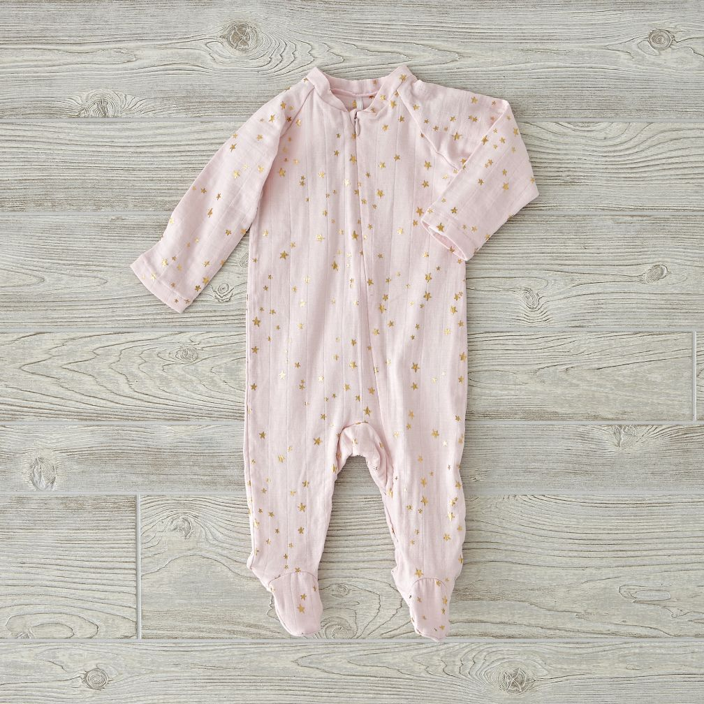 aden + anais Metallic Pink One-Piece