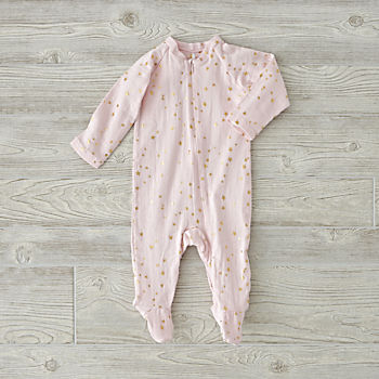 aden + anais Metallic Pink One-Piece (3-6 Months)