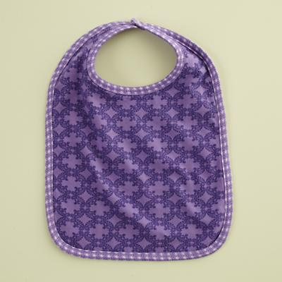 Purple Deco Bib