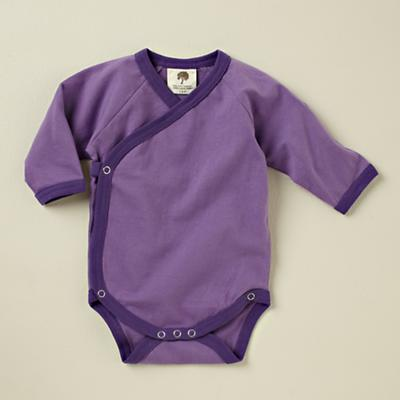 0-3 mos. Purple Long Sleeve Snapsuit