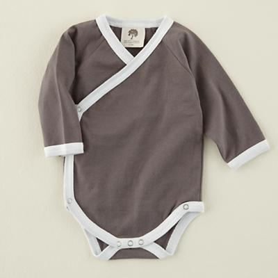 0-3 mos. Grey Long Sleeve Snapsuit
