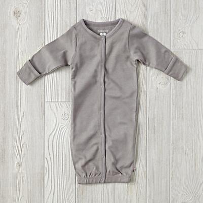 Babysoy Grey Gown (0-3 Months)