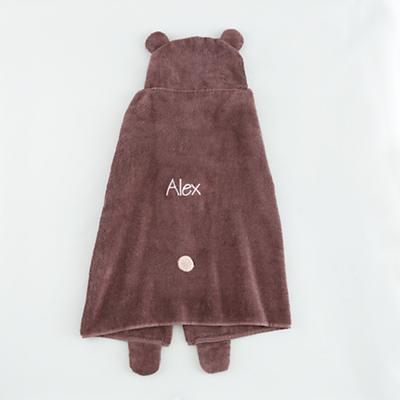 Personalized How Do You Zoo Hooded Towel (Bear)