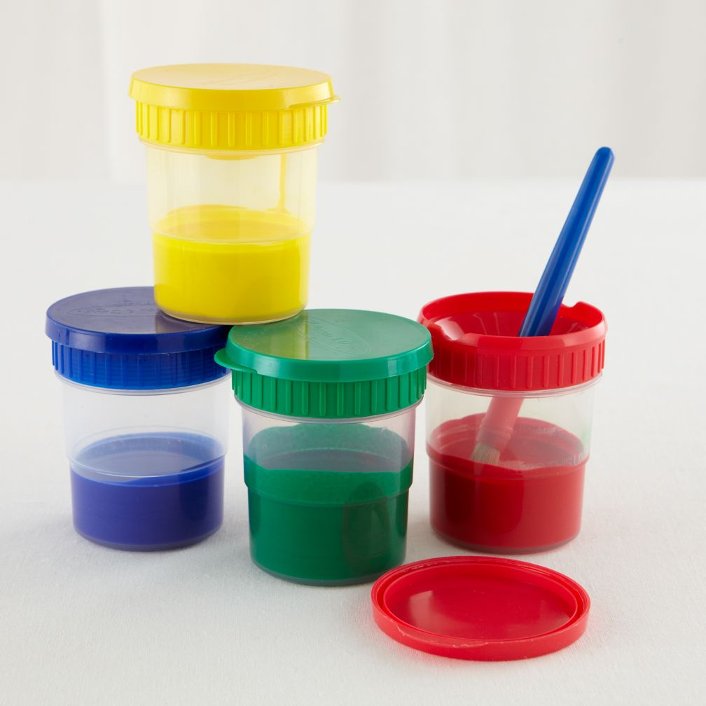 Melissa And Doug Paint The Town Paint Cups Set Of 4 The Land Of Nod