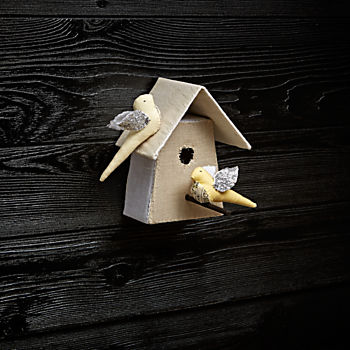 Medium Bird House 5 by Tamar Mogendorff