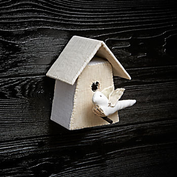 Small Bird House 4 by Tamar Mogendorff