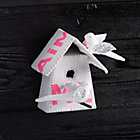 Medium Pink Letters Birdhouse 3