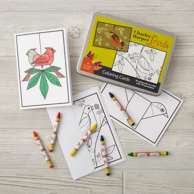 Charley Harper Birds Coloring Cards
