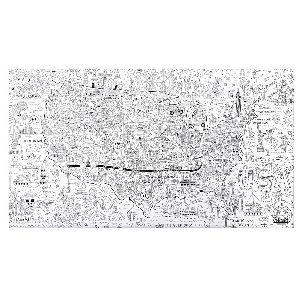 America Giant Coloring Poster | The Land of Nod