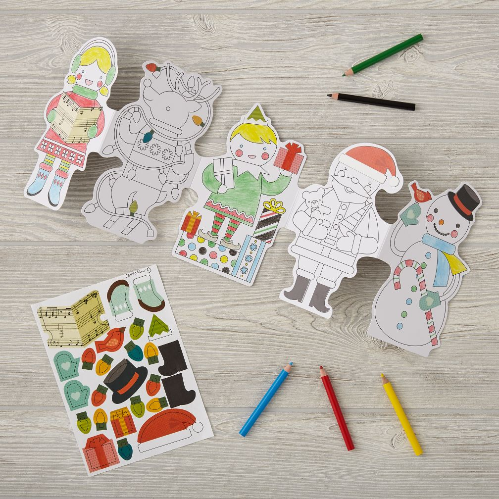 Holiday Paper Doll Chain