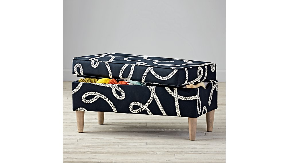 Upholstered Storage Bench (Goodwin Rope)