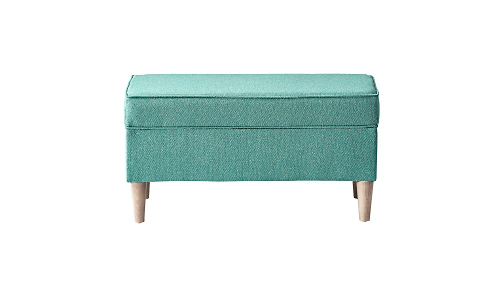 Upholstered Storage Bench (Galaxy Mint)