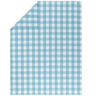 Blue Breezy Gingham Duvet Cover (Twin)