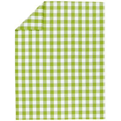 Green Breezy Gingham Duvet Cover (Twin)