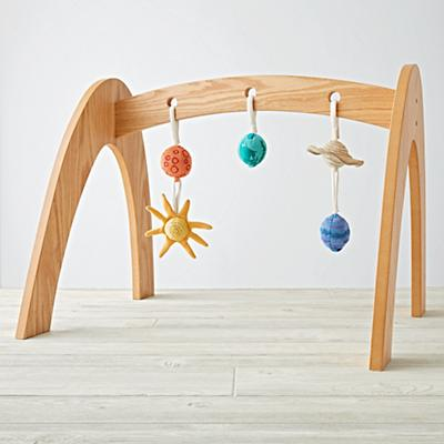 Natural Activity Gym With 5 Solar System Rattles