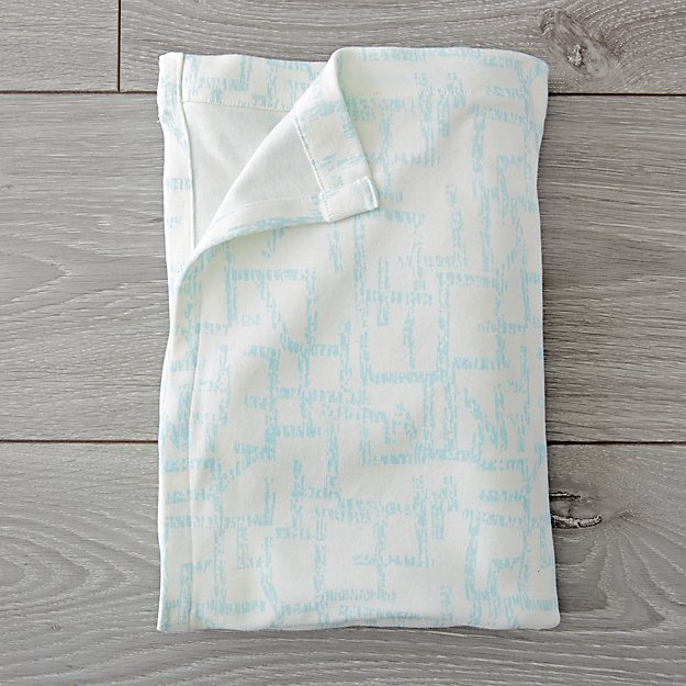 Organic Daily Sketch Blue Baby Blanket