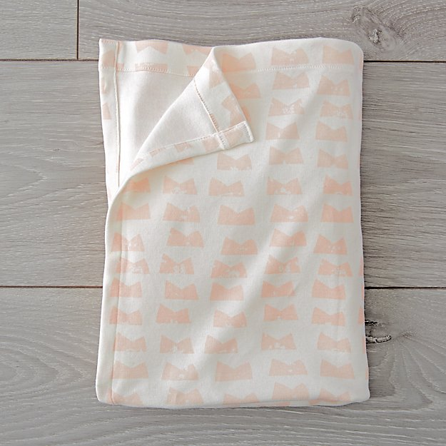 Organic Daily Sketch Pink Baby Blanket