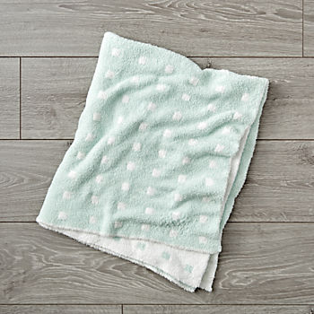 Simple Pattern Mint Baby Blanket