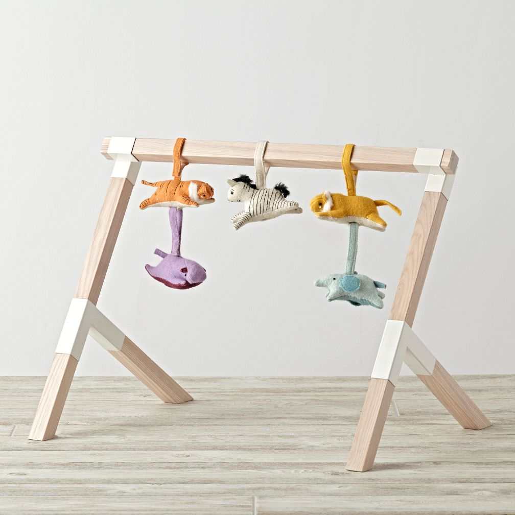 Modern Baby Gym With Animal Rattles The Land Of Nod