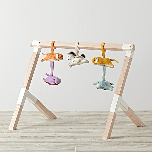 Modern Baby Gym With Animal Rattles