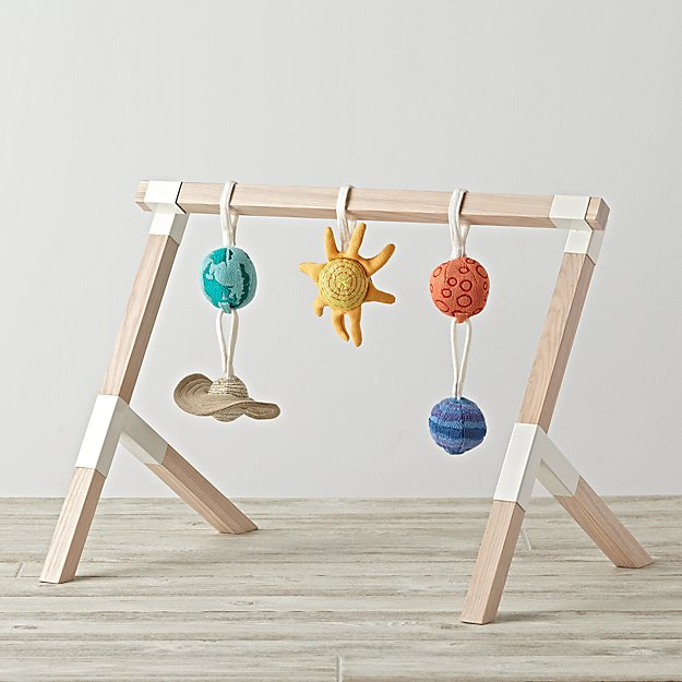 Modern Baby Gym With Solar System Rattles