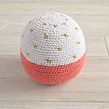 Eye Catching Knit Ball (Orange)