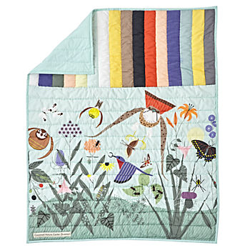 Charley Harper Nature Center Baby Quilt