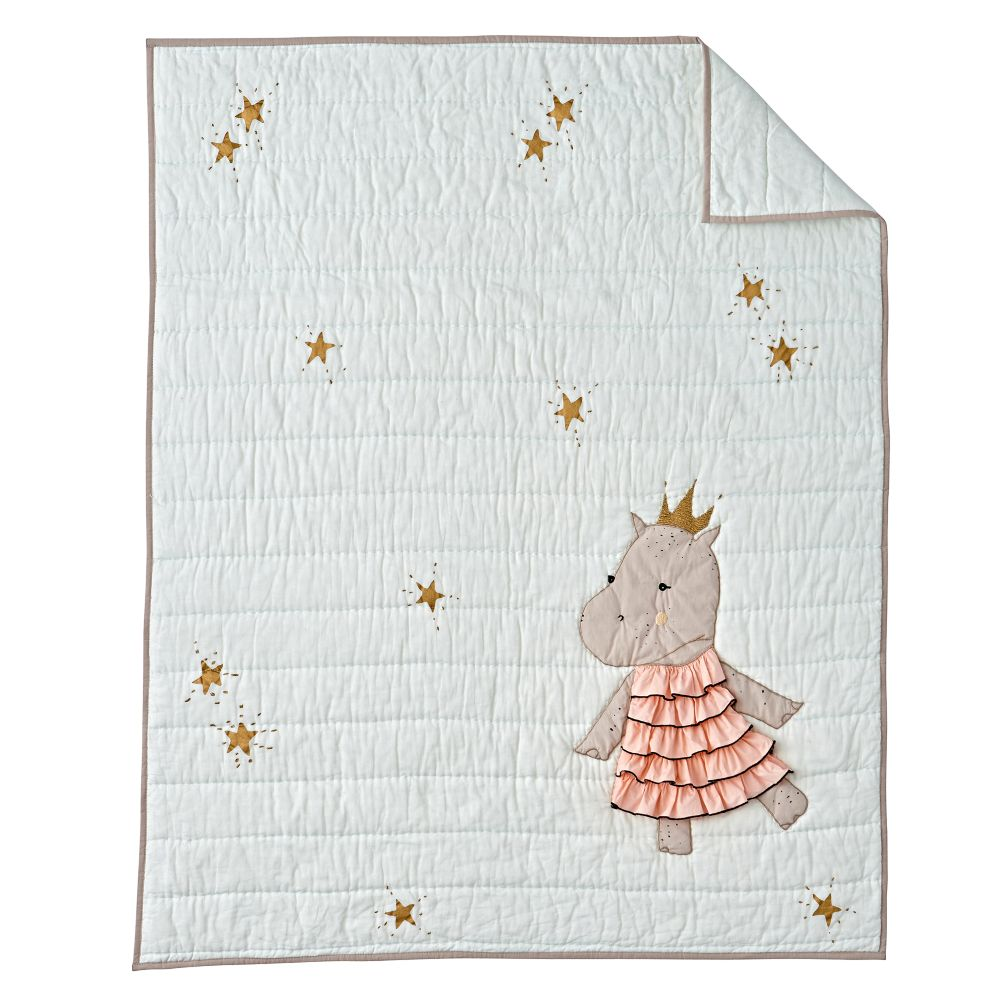Hippo Baby Bedding Crib Quilt The Land Of Nod