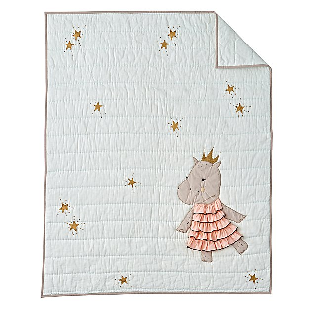 Royal Hippo Baby Quilt