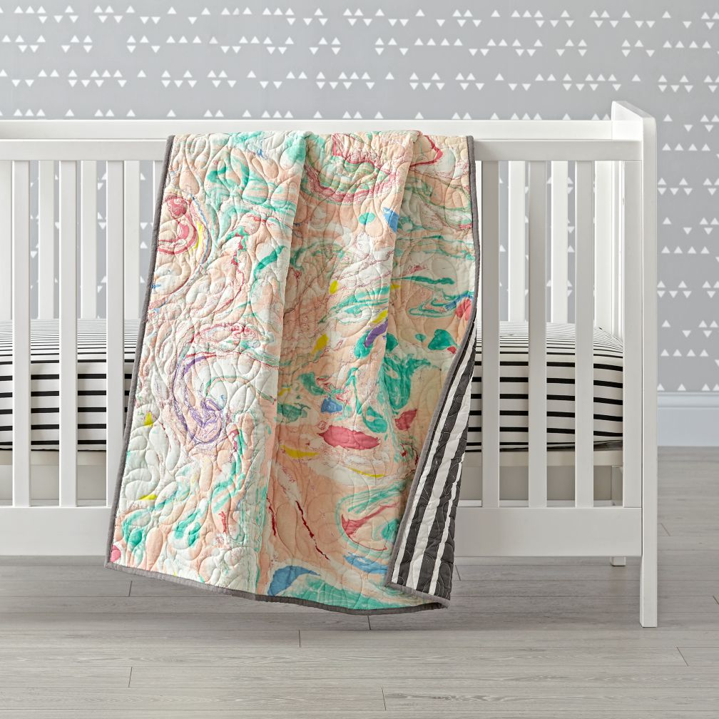 State the Label Baby Quilt