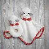 Plush Pair Lovey & Rattle (Sheep)