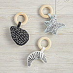 Celestial Baby Rattles, Set of 3