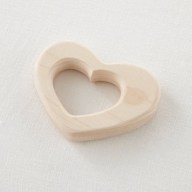 Heart Wooden Teether Ring