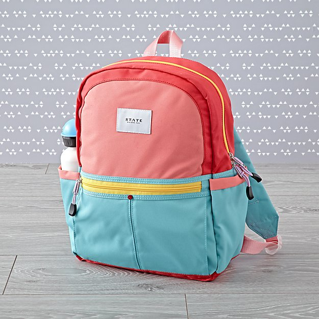 State Kane Pink and Mint Backpack