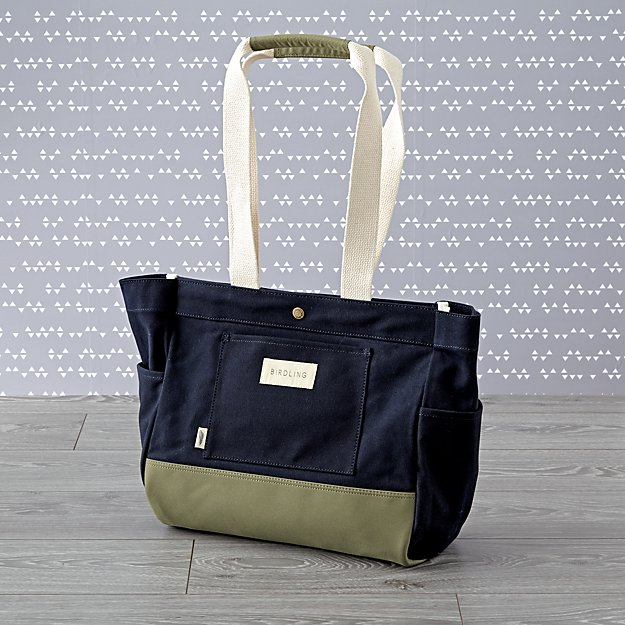 Birdling Mini Day Tripper Navy Diaper Bag